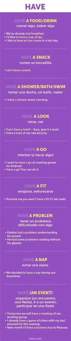 60+ frases con los verbos más necesarios en Inglés #english #collocations #have
