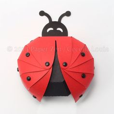 Ladybug Paper Gift Box Die Cutting with SVG files by PaperZenShop