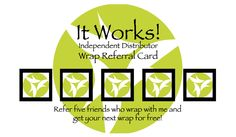 Wanna wrap for free? Let your friends know when i wrap 5 friends you referred to me you wrap free! http://lela.myitworks.com facebook.com/wraptolose
