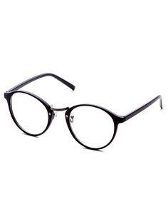 Black Frame Clear Lens Glasses — 0.00 € -------------------------color: Black size: None