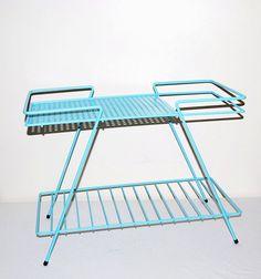 50s Aqua Metal Table by CheekyVintageCloset on Etsy, $62.00