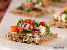 Greek Salad Cracker Snack - A great appetizer recipe for New Year's!