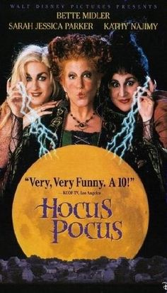 The 1993 film Hocus Pocus, starring Bette Midler, Sarah Jessica Parker, and Kathy Najimy, is to be rebooted as a TV movie. Hocus Pocus Dvd, Hocus Pocus 1993, Hocus Pocus Movie, Hocus Pocus Disney, Disney Films, Disney Dvd, Walt Disney Animated Movies, Disney Channel Movies, Romantic Movies