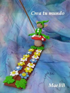 The World's Best Photos by Crea tu mundo Polymer Clay Figures, Polymer Clay Projects, Incense Holder, Candle Holders, Biscuit, Play Clay, Photo Holders, Air Dry Clay, World Best Photos