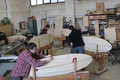 ARBO wooden surfboards workshops!