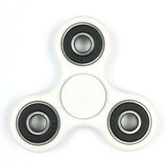 Omega Tri-Spinner Fidget Toy With Premium Hybrid Ceramic Bearing (White)
