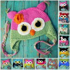 Crochet Owl Hat (More Colors!)
