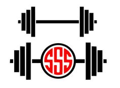 Barbell svg Gym svg barbell monogram svg workout svg