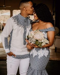 South African Dresses, South African Wedding Dress, African Wedding Attire, African Prom Dresses, Latest African Fashion Dresses, Sishweshwe Dresses, African Women Fashion, Zulu Traditional Wedding Dresses, Zulu Traditional Attire