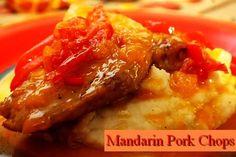 Mandarin Pork Chops http://www.momspantrykitchen.com/mandarin-pork-chops.html