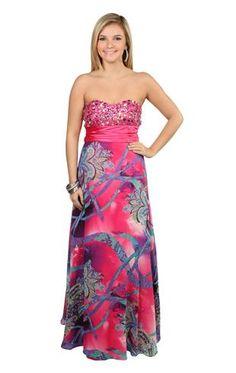 mixed paisley print chiffon long prom dress with stone bodice