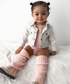 Cute Kids Fashion, Baby Girl Fashion, Toddler Fashion, Toddler Outfits, Boy Outfits, Cute Mixed Babies, Cute Babies, Cute Little Girls Outfits, Baby Girl Hairstyles