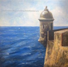 Excited to share this item from my shop: Old San Juan Garita El Morro, Puerto Rico Art, original oil painting square Morro Sentry, Caribbean art Puerto Rico, Things To Do At Home, Fun Things, Old San Juan, Great Paintings, Oil Paintings, Puerto Rican Culture, Caribbean Art, Bird Wall Art