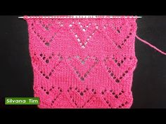 Punto CORAZONES (corazón). Tejido con dos agujas # 517 Video. - YouTube Lace Knitting, Knitting Socks, Knitting Stitches, Knitting Needles, Knitting Patterns, Knit Socks, Crochet Baby, Crochet Top, Knitting Videos