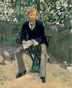 George Moore in de tuin van de kustenaar door Edouard Manet, ca. 1879