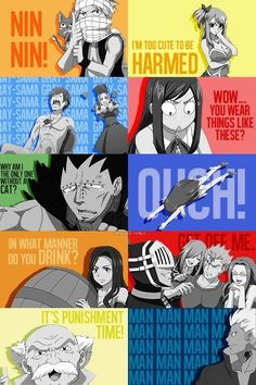 Natsu, Lucy, Juvia, Erza, Gajeel, Wendy, Cana, Laxus, Gramps and Elfman