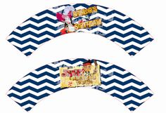 "Printable ""JAKE and the NEVERLAND PIRATES Cupcake Wrappers"" Jake and the Never Land Pirates Cupcake Wraps - Pirate Party Cupcake Wrappers"