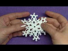 YouTube Crochet Snowflake Pattern, Crochet Stars, Crochet Snowflakes, Snowflake Ornaments, Thread Crochet, Snow Flakes Diy, Crochet Videos, Christmas Art, Christmas Recipes