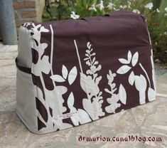 Tuto housse machine a coudre couture pinterest for Housse machine a coudre
