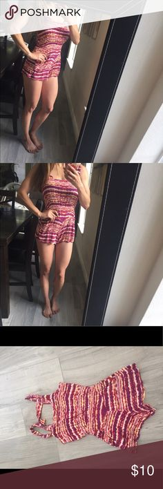 Cute Short Romper Small For a short girl unless you don't mind it being too short. I'm 5'4 and just about covers my bum Dresses Mini