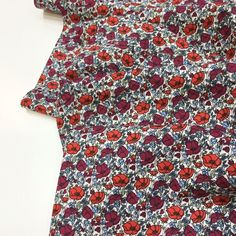 Cotton Lawn Fabric, Poplin Fabric, Red Poppies, Dressmaking, Crisp, Print Patterns, Surface, Trousers, Ivory
