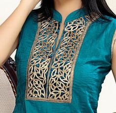 Collar Ban Cotton Churidar Suits Neck Gala Designs Patterns Images 2015