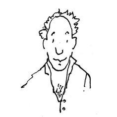 Illustratie met pen - illustration with pen - man - borsthaar