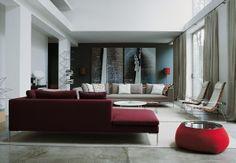 Burgundy Sofa Design : Model Homes with Burgundy Living Room Decor – Better Home and Garden Burgundy Living Room, Living Room Grey, Living Room Sofa, Living Room Furniture, Living Room Decor, Living Rooms, Burgundy Couch, Cozy Living, Living Area