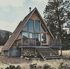 Cabin home. Would love this.