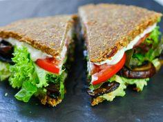 The Raw Chef's Mediterranean Buckwheat Bread | Raw dehydrated bread via Healthy Blender Recipes