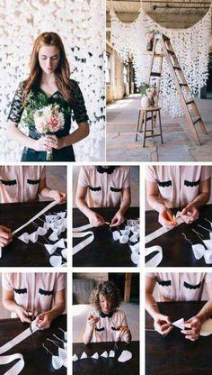 Wedding Backdrop Design, Paper Backdrop, Backdrop Ideas, Floral Backdrop, Backdrop Stand, Diy Wax, Wedding Decorations On A Budget, Wedding Day, Trendy Wedding