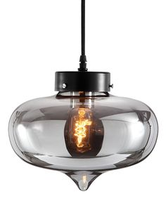 Smoke Tinted Glass Chandelier