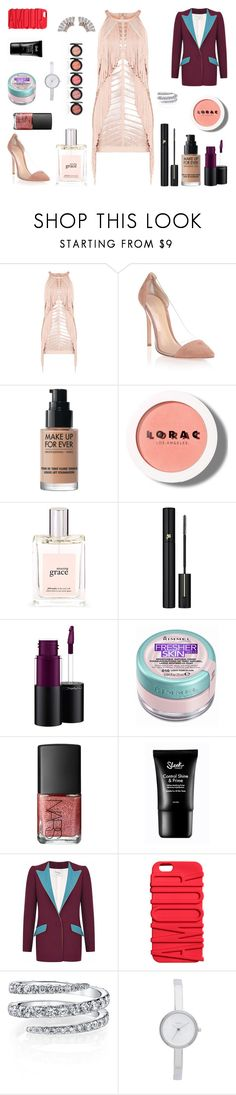 """* WHERE IS THE PARTY ? by bOO *"" by boo-sandra on Polyvore featuring Hervé Léger, Gianvito Rossi, MAKE UP FOR EVER, LORAC, philosophy, Lancôme, MAC Cosmetics, Rimmel, NARS Cosmetics and Hebe Studio"