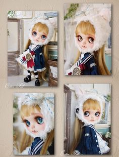 Custom Blythe dolls: Cotton Tail Kitten & Sailor Custom Blythe - A Rinkya Blog