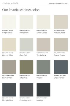 Tried & True Cabinet Colors - Studio McGee Dark Granite Kitchen, Wall Colors, House Colors, Laundry Room Cabinets, Bunk Rooms, Paint Swatches, Best Kitchen Designs, Studio Mcgee, Paint Colors For Home
