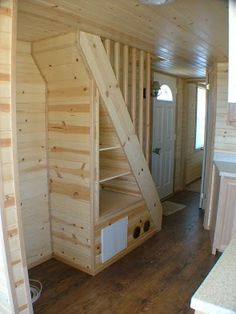 tiny stairs with built in storage