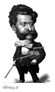 Strauss  -  Caricature Engravings of Composers by Mark Summers
