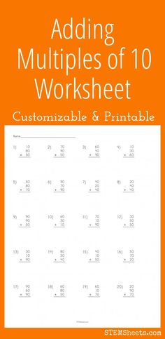 math worksheet : customizable and printable counting coins worksheet practice  : Adding Multiples Of 10 Worksheet