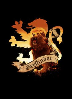 "Gryffindor by Markusian - Gryffindor is one of the four Houses of Hogwarts School of Witchcraft and Wizardry, founded by Godric Gryffindor. Its emblematic animal is the lion, and its colours are red and gold. Minerva McGonagall is the most recent known Head of House. Sir Nicholas de Mimsy-Porpington, also known as ""Nearly Headless Nick"" is the house ghost. The particular characteristics of students Sorted into Gryffindor are courage, chivalry and determination."