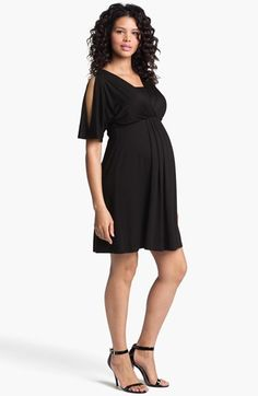 Maternal America Split Sleeve Maternity Dress | Nordstrom