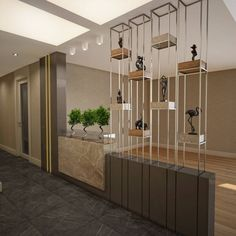 Room divider ideas to enliven your space 00027 Design Salon, Salon Interior Design, Design Hotel, House Design, Living Room Partition Design, Room Partition Designs, Partition Ideas, Wall Partition, Plafond Design