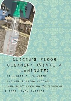 Alicia's Laminate & Vinyl Floor Cleaner! Safe for kids and pets!