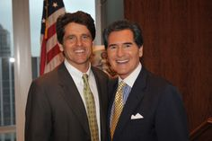 """Ernie Anastos New York TV icon presents a """"Christopher Award"""" to Mark K. Shriver for his book, """"A Good Man"""" profiling his father Sargent Shriver, a Kennedy White House and Peace Corps legend."""