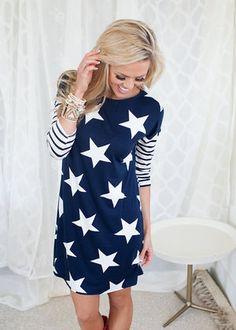 Dancing in Stars Dress in Navy