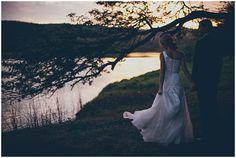 www.vanillaphotography.co.za | Durban wedding photographer, Durban wedding venue, The Venue wedding venue, south coast, farm wedding, bridal shoot, bride & groom, one shoulder lace wedding dress, navy suit, sea, sunset, holding hands, river