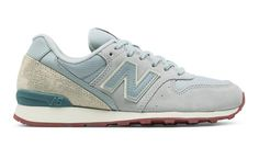 696 New Balance, Silver Mink with Powder & Riptide