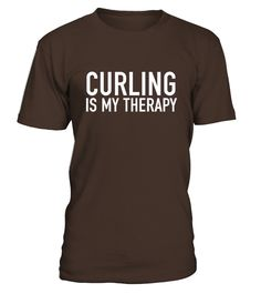 Curling Is My Therapy - Curlers Gift Idea T-shirt