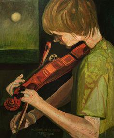 M. Nyman-On The Fiddle  Original oil by PaintingThomasMrozow