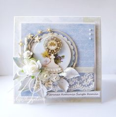 First Communion Cards, Baptism Gifts, Kirigami, Cute Cards, Making Ideas, Wedding Cards, Holi, Card Making, Scrapbooking