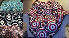 [Free pattern] Large Afghan Circular Motif